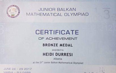 Bronz në ndërkombëtaren e matematikës