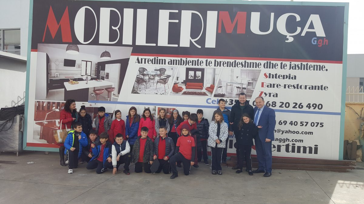 """Nxënësit e klasës së 3A në ambientet e Mobileri """"Muça"""""""