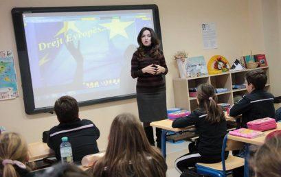 Klasa e 4B orë e hapur në lëndën e historisë me Prof. Asoc. Dr. Belina Budini