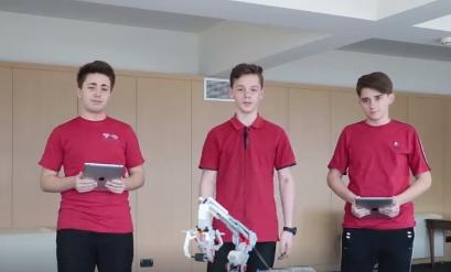 """Klubi i Robotikës i kolegjit """"Turgut Özal"""" në GENIUS Olympiad 2019"""