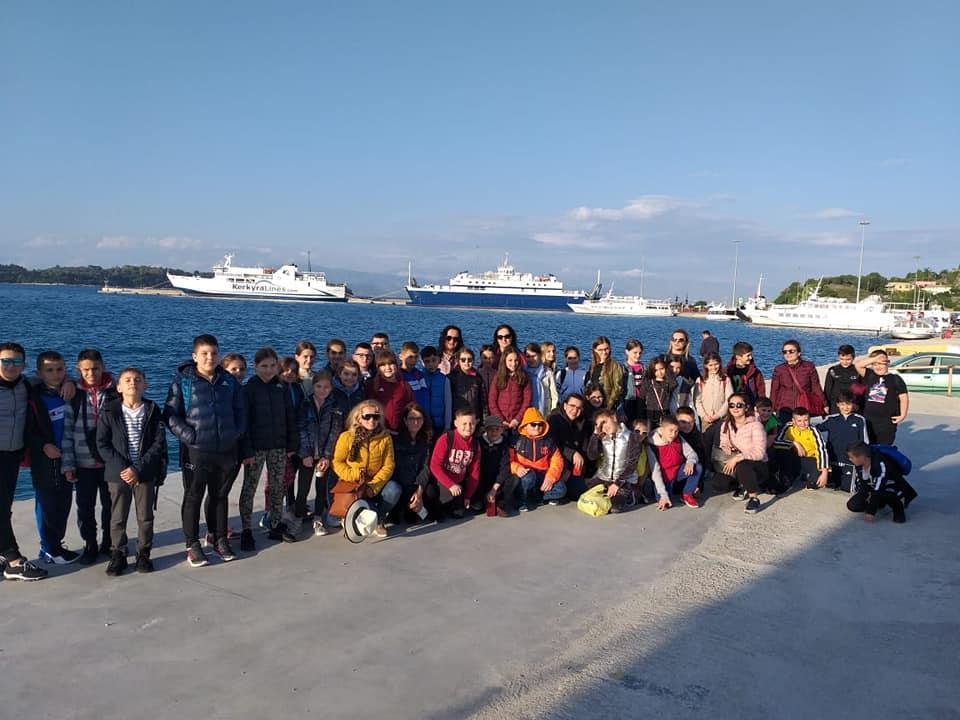 Shëtitje në Korfuz me klasat e 4-ta e të 5-ta