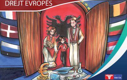 """""""Drejt Evropës"""" libri më i ri, i botuar me punimet e përzgjedhura të nxënësve të kolegjit """"Turgut Özal"""""""