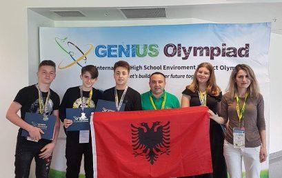 """Nxënësit e kolegjit """"Turgut Özal"""" përfaqësojnë denjësisht Shqipërinë në Olimpiadën Ndërkombëtare, GENIUS Olimpiad 2019 në Oswego, New York, SHBA"""