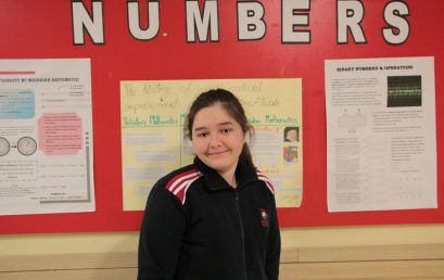 """Nxënësja e klasës së 9-të në kolegjin """"Turgut Ozal"""" Amelia Duxha, fiton Olimpiadën Kombëtare të Matematikës"""